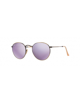 RAY-BAN RB 3447 167/4K | ROUND METAL Flash Lenses